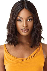 Outre 100% Human Hair Wigs NATURAL BLACK Outre The Daily Wig 100% Human Hair Wig - CURLY BLUNT CUT BOB 14""