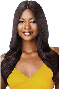 Outre 100% Human Hair Wigs NATURAL BLACK Outre The Daily Wig 100% Human Hair Wig - STRAIGHT V CUT 22""