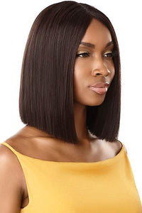 Outre 100% Human Hair Wigs NATURAL BLACK Outre The Daily Wig 100% Unprocessed Human Hair Wig - Straight Blunt Cut Bob 12""