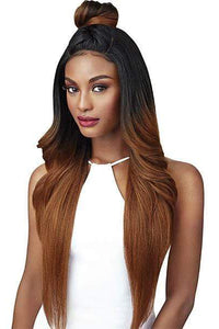 Outre Free Part Lace Wigs 1 Outre Swiss U Vixen Double U Synthetic Hair Lace Front Wig - KENDALL