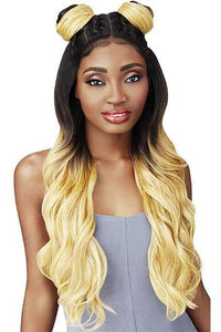 Outre Free Part Lace Wigs 1 Outre Swiss U Vixen Double U Synthetic Hair Lace Front Wig - KRISTIA