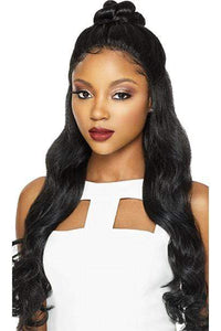 Outre Frontal Lace Wigs 1 Outre Synthetic Swiss X Lace Front Wig - VIXEN ROMANCE CURL (4 Way Part Cap)