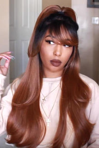 Outre Frontal Lace Wigs Outre & Play Human Hair Blend 13x4 Optimix Lace Wig - DAPHNE