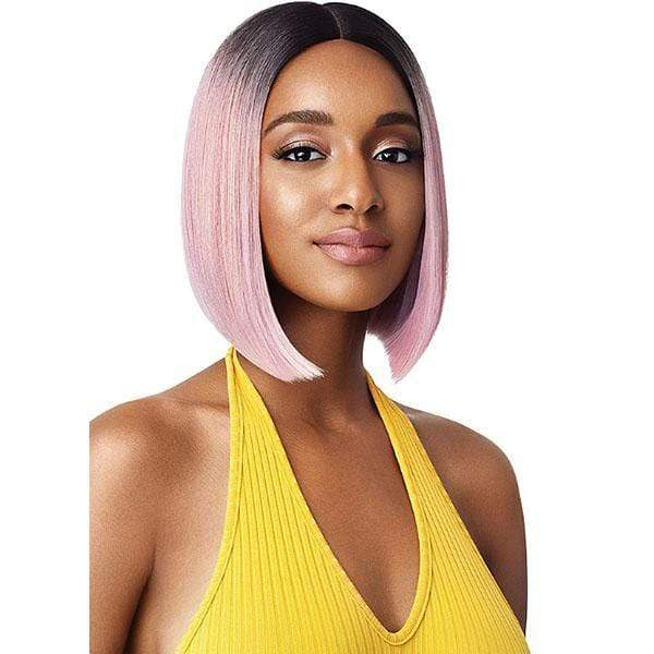 Outre Synthetic Wigs DR4/ROSE GOLD Outre The Daily Wig Synthetic Hair Lace Part Wig - RYAN