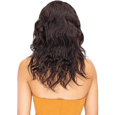 So Good Shop 100% Human Hair Lace Wigs NATURAL BLACK Janet Collection 100% Natural Virgin Remy Human Hair Deep Part Lace Wig - Natural 18