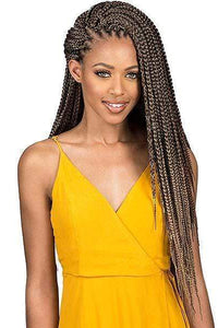 So Good Shop Box Braid 1 [3 Pack Deal] Bobbi Boss African Roots Collection Crochet Braid - BOMBA BOX BRAID 18""
