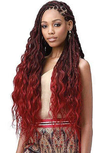 So Good Shop Crochet Braid 1 Bobbi Boss Synthetic Pre-Feathered Braid - 3X KING TIPS BODY WAVE 28""