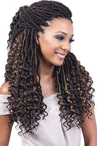 So Good Shop Crochet Braid Bobbi Boss African Roots Collection Crochet Braid - NU LOCS CURLY TIPS 20""