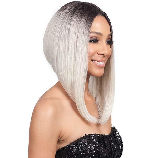 Bobbi Boss Synthetic 5 Inch Deep Part Swiss Lace Front Wig