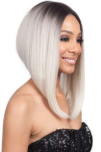 So Good Shop Deep Part Lace Wigs 1 Bobbi Boss Synthetic 5 inch deep part Swiss Lace Front Wig - MLF218 LYNA ANGLED BOB