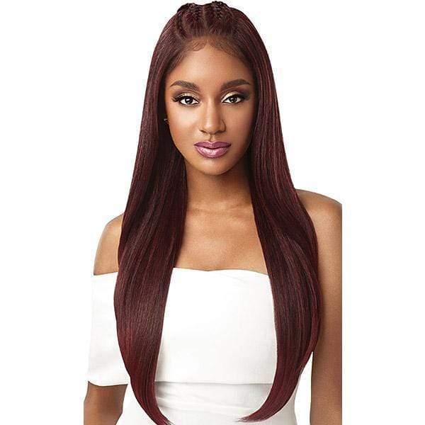 06ea3bdb293 So Good Shop Deep Part Lace Wigs 1 Outre Perfect Hairline Synthetic 13x6  Pre-Braided