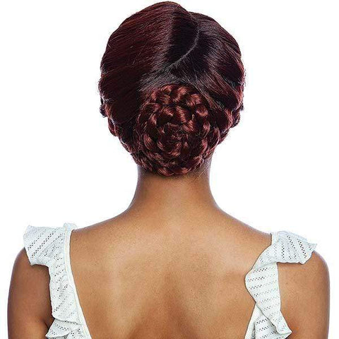 So Good Shop Ear-To-Ear Lace Wigs 1 Mane Concept Red Carpet Synthetic Crown Braid Lace Wig - RCCB02 CLOVER