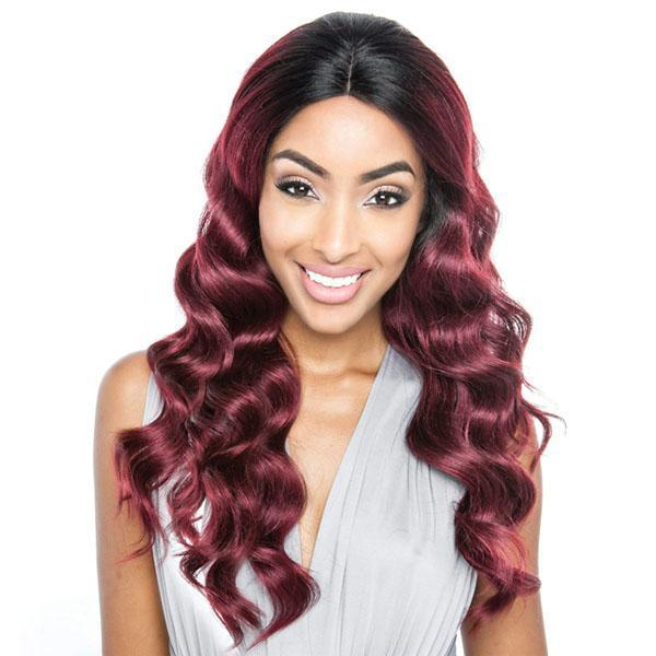 So Good Shop Human Hair Blend Lace Wigs 1 Mane Concept Brown Sugar Human Hair Blend Glueless Lace Front Wig - BSG201 CHELSEA