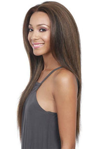 So Good Shop Human Hair Blend Lace Wigs 1B Bobbi Boss  Lace Front Wig - MBLF80 MINA
