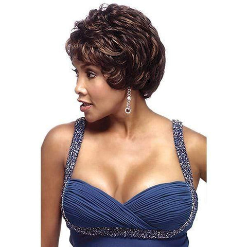 Vivica A Fox Synthetic Wigs 1 Vivica A Fox Hand Made Wig Pure Stretch Cap Synthetic Wigs - FRANCYNE-V