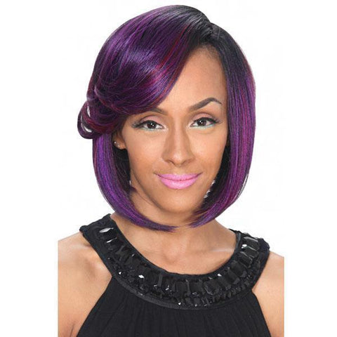 Zury Deep Lace Part Full Wigs 1 Zury Deep A Line Cut Synthetic Wig Lace Part Full Wigs - A LINE-H LEVA