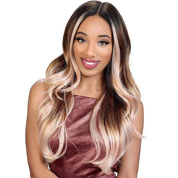 Zury Ear-To-Ear Lace Wigs 3TF PINK Zury Sis Royal Swiss Lace Synthetic Hair Lace Front Wig - LACE H GLORY