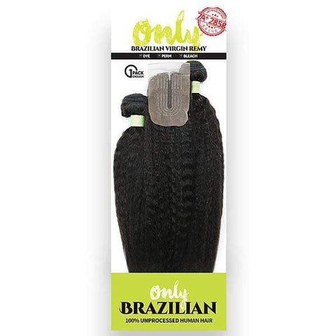 "Zury Unprocessed Bundle Hair Natural / 10"" + 12"" + 14"" Zury Sis Only Unprocessed Brazilian Virgin Remy Human Hair ONLY BRZ MULTI KINKY STRAIGHT 10-18 Inch (1 Pack Enough)"