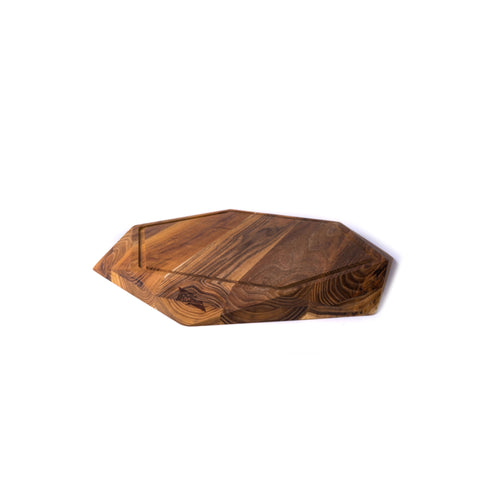 LARGE TEAK STAR WITH JUICE TRENCH (13.8x13.8x1.6