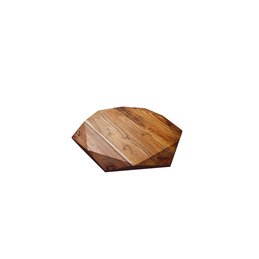 SMALL TEAK STAR SLIM (9.8X9.8X0.7