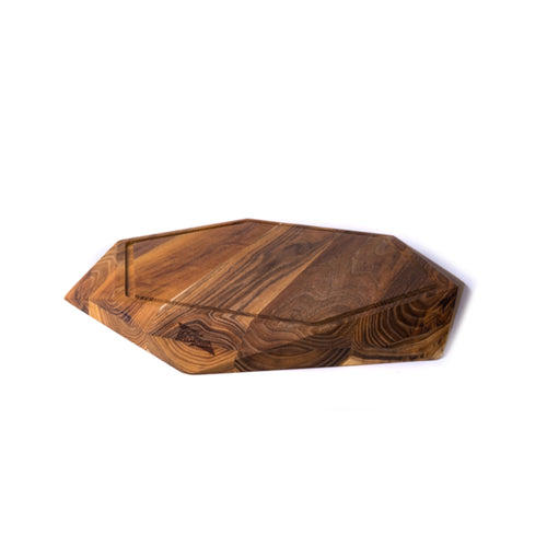 EXTRA LARGE TEAK STAR WITH JUICE TRENCH (17.8x17.8x1.6