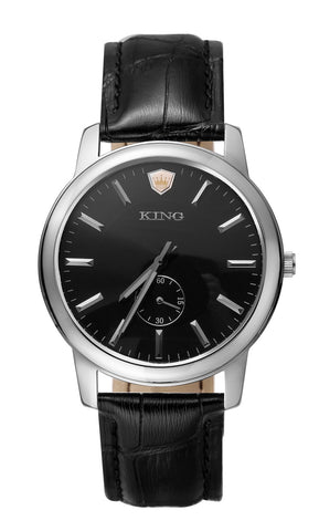 KING EVOLUTION SERIES MEN'S WATCH BLACK LEATHER