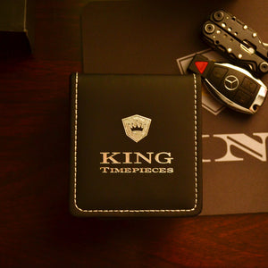 KING Signature Series Silver Black | Black Croc Leather