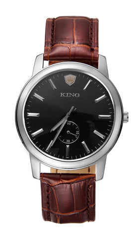 KING EVOLUTION SERIES MEN'S WATCH BROWN LEATHER