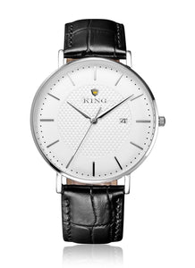 KING Signature Series Silver White | Black Croc Leather