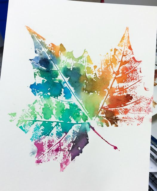 Eco Art Ideas For Kids - Leaf Printing