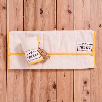 The Swag Fruit and Veggie Bag, Long Yellow Trim - The Clean Collective