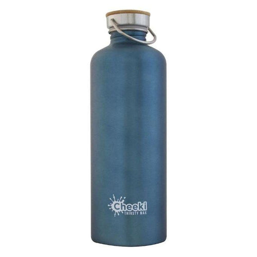 Cheeki Stainless Steel Single Wall Bottle, 1.6L Thirsty Max Teal- The Clean Collective