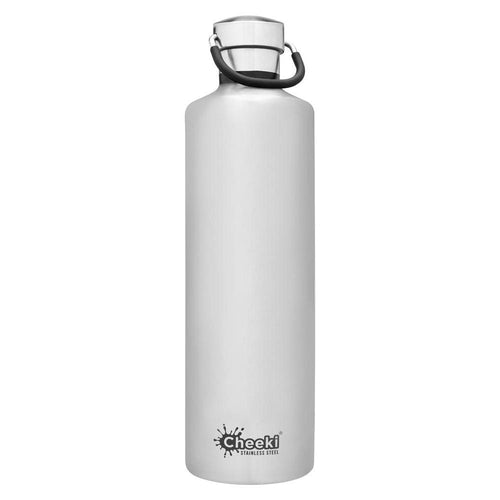Cheeki Stainless Steel Insulated Bottle, 1L Silver