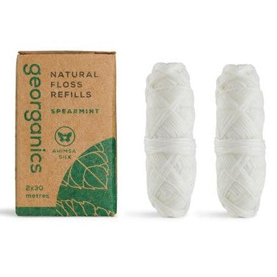 Georganics Natural Floss Refill, Spearmint