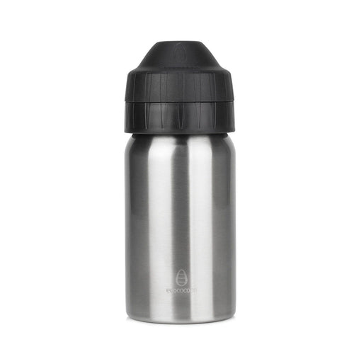 Ecococoon Stainless Steel Water Bottle, Brushed Steel - 350ml