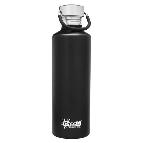 Cheeki Stainless Steel Single Wall Bottle, Matte Black