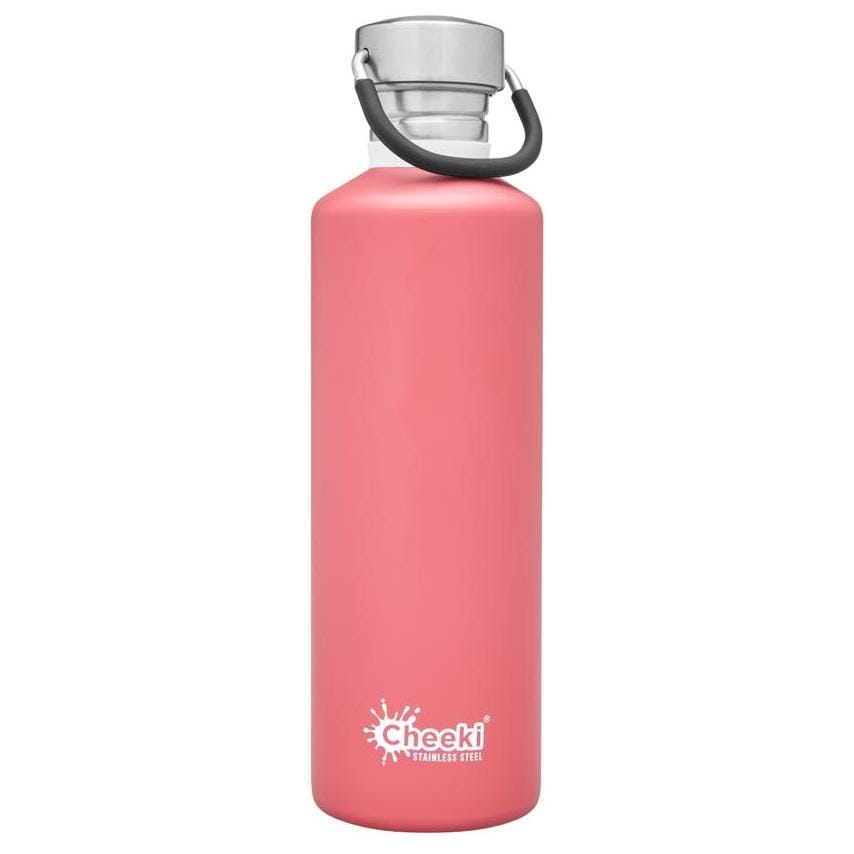 Cheeki Stainless Steel Single Wall Bottle, 750ml Dusty Pink