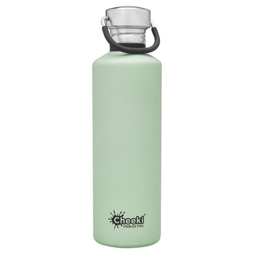 Cheeki Stainless Steel Single Wall Bottle, Pistachio