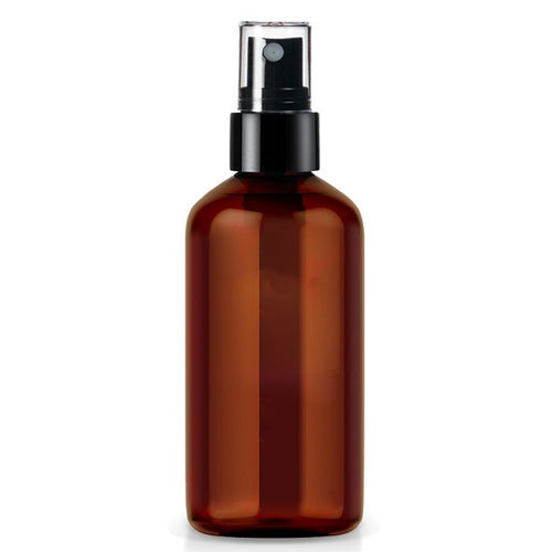 The Clean Collective Amber Glass Bottle With Spray, 120ml