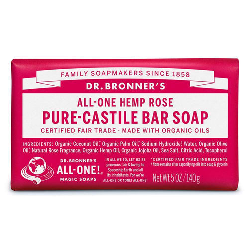 Dr. Bronner's Castile Soap Bar, Rose