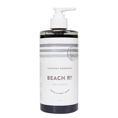 Beach Rd Naturals Hand & Body Wash - Coconut Charcoal 500ml