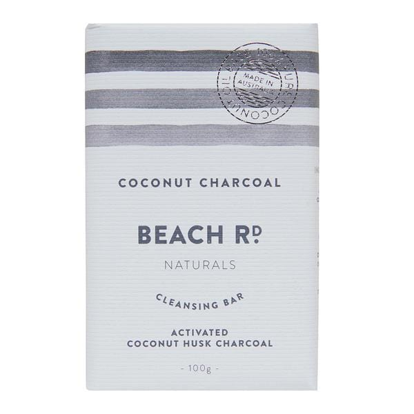 Beach Rd Naturals Cleansing Bar, Coconut Charcoal 100g