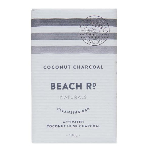 Beach Rd Naturals Cleansing Bar - Coconut Charcoal 100g