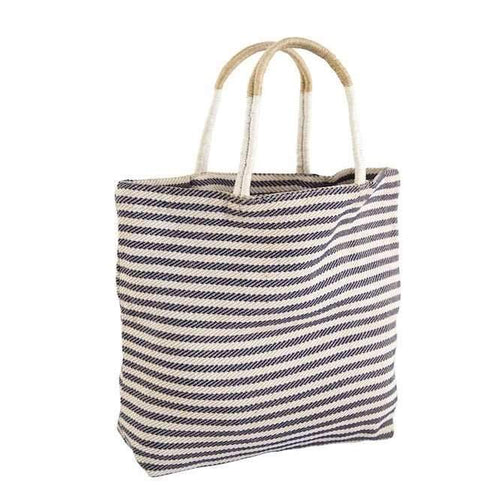 The Dharma Door Pacific Shopper, Indigo & White Thin Stripe