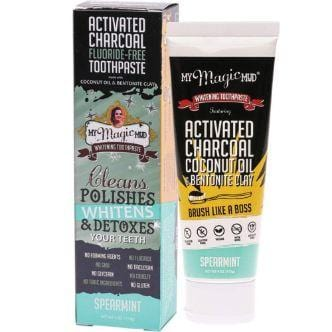 My Magic Mud Activated Charcoal Whitening Toothpaste, Spearmint