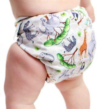Designer Bums Art Pop Ai2 Nappy, Safari