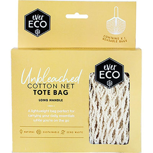 Ever Eco Netted Cotton Shopping Bag, Long Handle