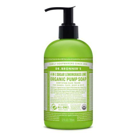 Dr. Bronner's Organic Pump Soap - Lemongrass Lime- The Clean Collective