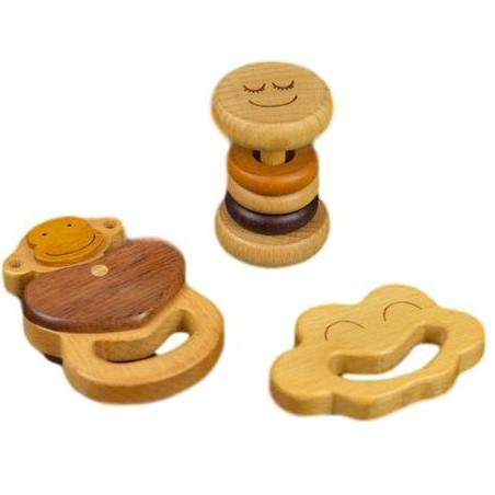 Soopsori Monkey Rattle Set