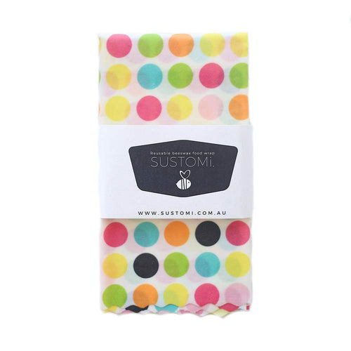Sustomi Beeswax Food Wraps Polka Dots